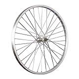 Taylor-Wheels 24 Zoll Vorderrad Laufrad Büchel Alufelge/Alu Nabe Vollachse - Silber