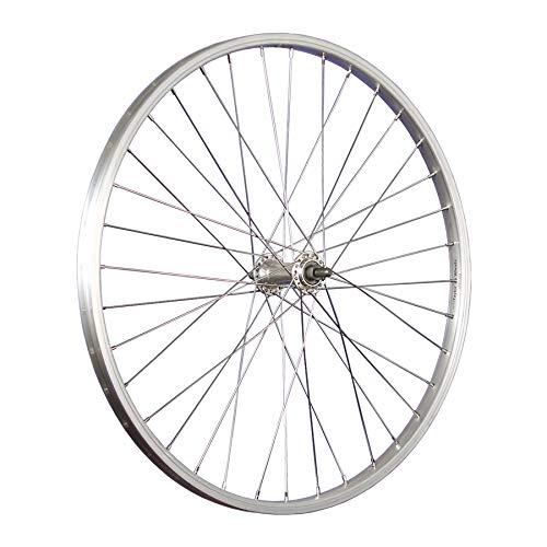 Taylor-Wheels 24 Pollici Ruota Anteriore Bici Alluminio Acciaio Inossidabile 507-19 Argento