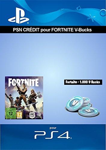 Crédit PSN pour Fortnite - 1.000 V-Bucks - 1.000 V-Bucks DLC | Code Jeu PS4 - Compte français