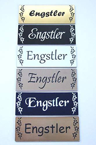 Briefkastenschild-Tuerschild-Namensschild-Klingelschild-selbstklebend mit-Gravur …