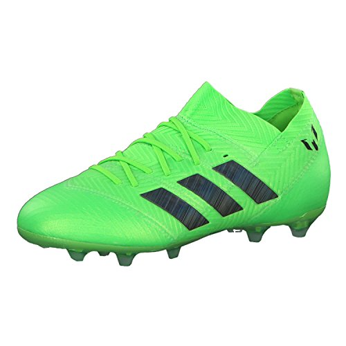 Adidas Nemeziz Messi 18.1 FG J, Botas de fútbol Unisex niño, Verde (Versol/Negbás 000), 30.5 EU