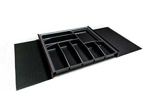 LANA solution Besteckkasten Schublade 60er | Einsetzbar auch für 80er/ 90er/ 100er/ 120er | Antirutschboden | Besteckeinsatz 519 mm x 473,5 mm (anthrazit, 80er/ 90er/ 100er/ 120er)