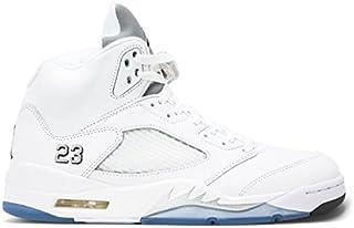 [ナイキ] Air Jordan Retro 5 Metallic Silver White AJ 5 136027-130 [並行輸入品]