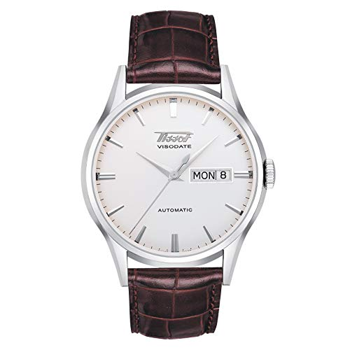 Tissot mens Viso Date stainless-steel Specialities Brown T0194301603101