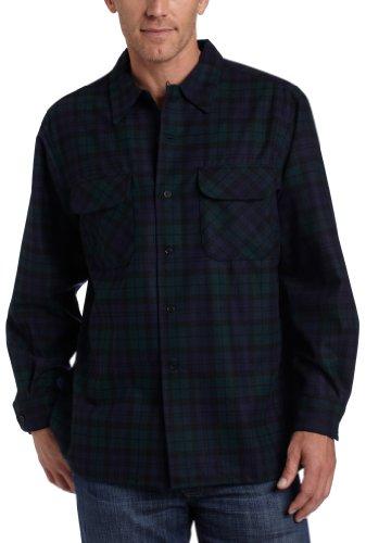 Pendleton Herren Long Sleeve Classic-Fit Board Shirt Button-Down Hemd, Black Watch Tartan-30069, 3X-Groß