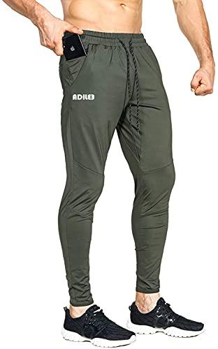 ADILEE Men's Lightweight Gym Jogger Pants,Men's Workout Sweatpants with Zip Pocket