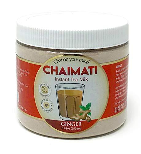 Pride Of India Ingwer chai latte Instant-Tee Vormischung gepudert, 8,82 Unzen (250gm) jar (macht 20 Tassen)