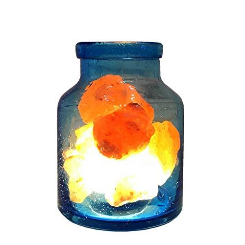 Luminaires & Eclairage/Luminaires intérieur/EC Lampe de Table en Verre Lampe en Cristal de sel Lampe Himalayenne Lampe à LED Naturelle Lampe de Chambre à Coucher Lampe de Chambre à Coucher en cris