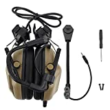 Zer one Helmet Microphone for CS Combats Games Tactical Headset Noise Canceling Microphone Headset (Mud)