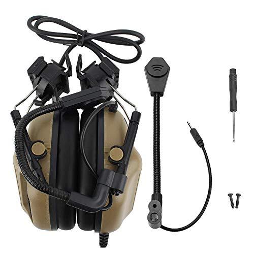Zer one Tactical Headset Noise Cancelling Helm-Mikrofon für CS Combats Games(Schlamm)
