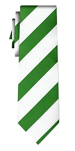 Cravate rayée stripe 2cm green white
