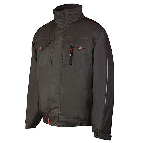 Giacca Lee Cooper LCJKT447 abbigliamento da lavoro Mens imbottito di poliestere idrorepellente Leggero sicurezza sul lavoro, Grigio, 2X-Large