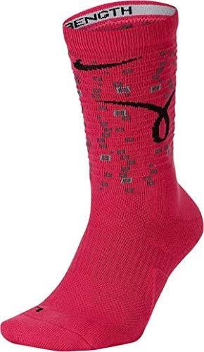 Nike Elite Crew Pink Black Kay Yow Dri Fit Basketball Socks Medium product image