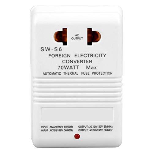 Nikou Convertidor de Voltaje - 70W 110V / 120V a 220V / 240V Transformador convertidor Elevador y Reductor de Voltaje (Enchufe estándar CN)