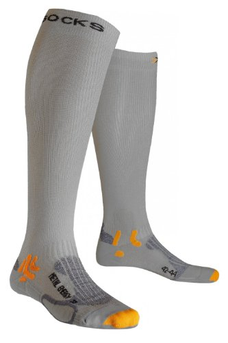 X-Socks Speed Metal Energizer Chaussettes Homme Gris FR : 35-38 (Taille Fabricant : 1)