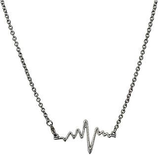 Necklaces البساطة قلادة سلسلة الصلب التيتانيوم، قلادة زوجين شخصية، قلادة من سبائك القلب قلادة النمذجة Necklace for Women (...