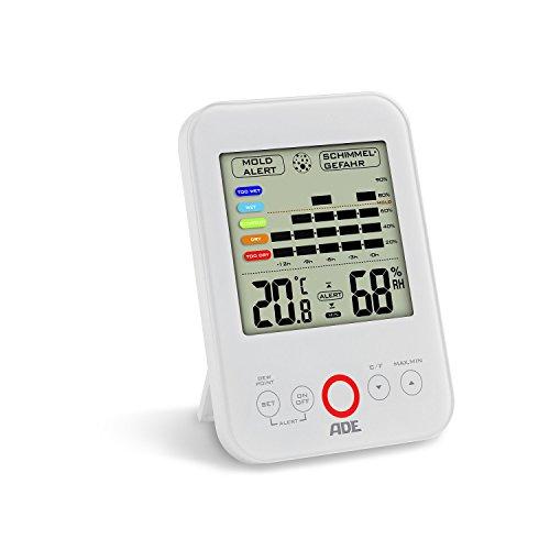ADE Digitales Hygrometer WS 1500 mit visuellem Schimmelalarm (weiß)