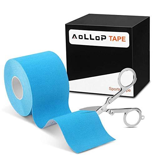 1 Rollen Kinesio Tape Physio Tape Muskeln Kinesiology Sport Tape 5m x 5cm Rollenlänge Elastisches Therapeutisches verletzungen Tape wasserfest und elastisc Bandage (1 Blau) MEHRWEG
