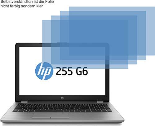 4ProTec I 4X Crystal Clear klar Schutzfolie für HP 255 G6 Bildschirmschutzfolie Displayschutzfolie Schutzhülle Bildschirmschutz Bildschirmfolie Folie