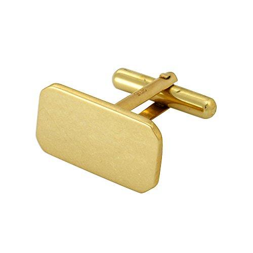 Sayers London 9 Karat Gelbgold Klassische Manschettenknöpfe | Scharnier Rückseite leicht schwenkbar