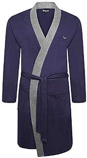 Mens Kingsize Big Size Soft Warm Fleece Dressing Gown Robe Burgundy Wine 3XL-8XL