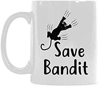 Save Bandit Coffee Mug Ceramic Material Mugs Tea Cup White 11oz