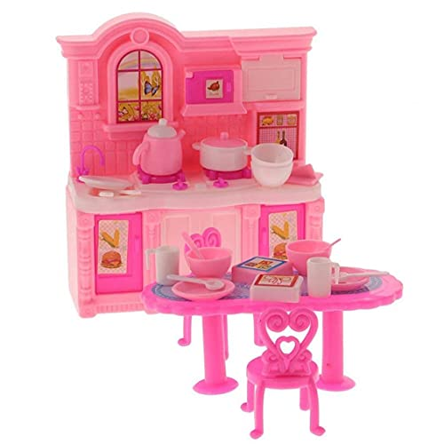 Aiyrchin Muebles del Dollhouse de los Muebles del Dollhouse 1/12 Cocina Comedor Accesorio para Toy Dolls 1 Set
