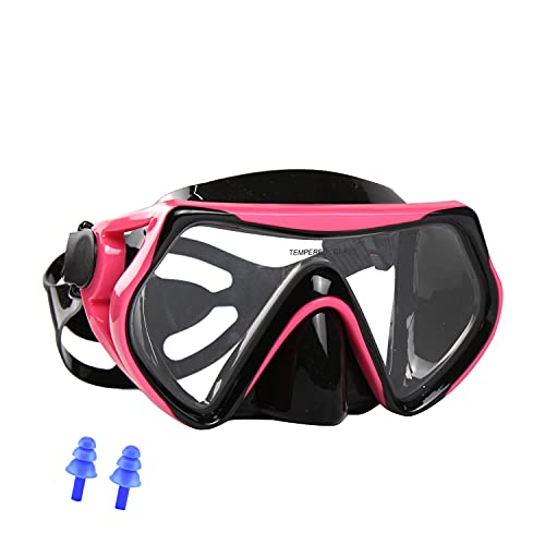 AQUA A DIVE SPORTS Snorkel mask Dive Mask for Scuba Diving mask Swim Goggles Snorkeling Free Diving Swimming for Adult Youth (M161 Pink)