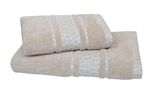 Dyckhoff handdoek giraffe borduur, 100% katoen maten badhanddoek (70 x 140 cm)