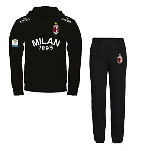 Print & Design Fleece Anzug Milan Sweatshirt SCHWARZ + SCHWARZ Hosen - Nicht OFFIZIELL (L)