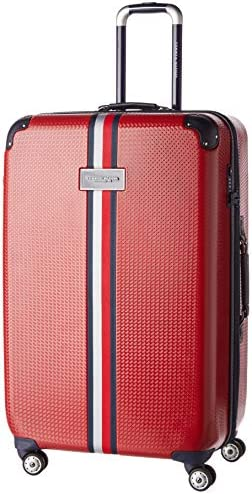 Tommy Hilfiger Upright Hardside Expandable Spinner Luggage with TSA Lock Red 28 Inch product image