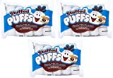 Stuffed Puffs - Classic Milk Chocolate 3 Pack, Chocolate Filled Marshmallows Made with Real Chocolate, Perfect for S'mores and Snacking, 3 Bags (8.6oz each)