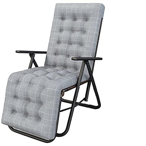 Faltstühle 9-Position einstellbare Recliner Mittagspause Haushaltsmultifunktions-Lazy-Stuhl Leicht tragbarer Siesta-Stuhl haben oder Nicht Baumwollpad-Option (Farbe: 001) WTZ012 (Color : 2)