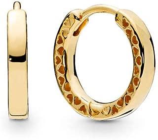PANDORA Hearts of PANDORA 18k Gold Plated PANDORA Shine Collection Earrings - 267939