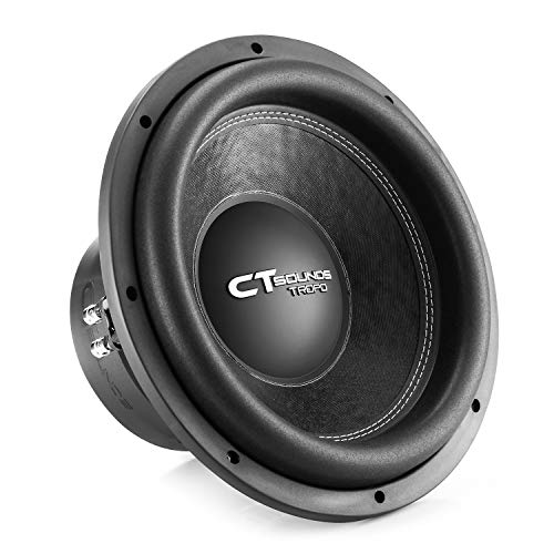 CT Sounds TROPO-12-D4 1300 Watt Max 12 Inch Car Subwoofer Dual 4 Ohm