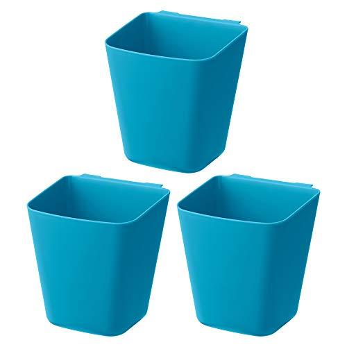 Ikea Sunnersta Küchenbehälter, zum Aufhängen, Blau, 12 x 11 cm, 3 Stück