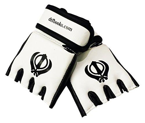 Sikh Khanda Miniatur MMA Handschuhe Rückspiegel
