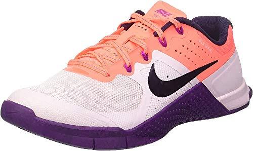 Nike Metcon 2, Scarpe Sportive Indoor Donna, Multicolore (Bleached Lilac/Bright Mango/Purple Dynasty), 38 EU