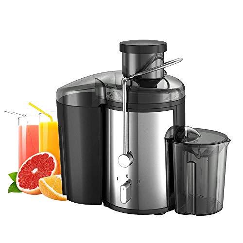 LJNYF Elektrischer Saftmischer, Extractor Obst- Und Gemüsesaftmaschine Wide Mouth Zentrifugalentsafter, Easy Clean Entsafter, Edelstahl, Dual-Speed, 400W, BPA-frei