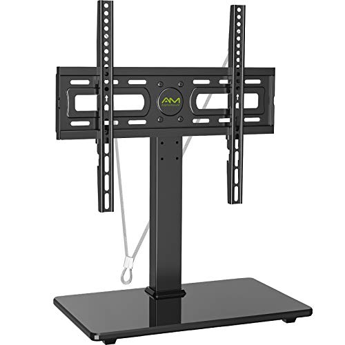 AM alphamount Universal TV Stand Table Top TV Base for