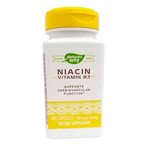 Niacin 100 mg, Nicotinic Acid, 100 Capsules - Nature's Way
