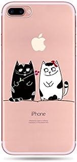 iphone 7 8 7plus iphoneX iphoneXs スマホケース 可愛い 猫 ネコ 猫ちゃん 動物 透明 ケース カバー 耐衝撃 創意 個性 漫画 人気 アイフォン TPU 軽量 薄型 衝撃吸収 全面保護