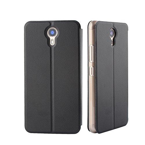 Frlife Ulefone Power 2 Hülle Schwarz, Bookstyle Handyhülle Premium PU-Leder klapptasche Hülle Brieftasche Etui Schutz Hülle für Ulefone Power 2