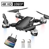 Abblie Drone avec Caméra, Drone Enfant avec WiFi FPV 1080P HD 4K Pixels, Mode sans Tête&Maintien d'Altitude&Vol de...
