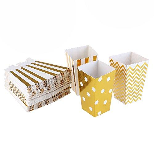 Maak Idee Pack van 30 Popcorn Papieren Doos Tassen Snoep Container Film Bruiloft Favor Party