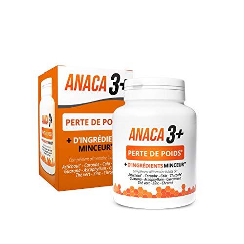 Anaca3+ – Perte de Poids (1) – Complément Alimentaire avec le Plus d'Ingrédients Minceur* – Programme 30 jours – 120 gélules