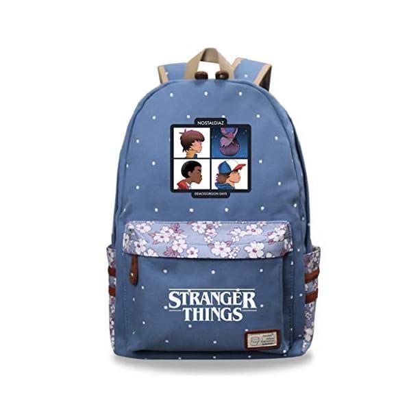 Mochila Stranger Things Escolar, Mochila Stranger Things 3 Niña y Niños Grande Adolescente Chicas Primaria Mochilas y…