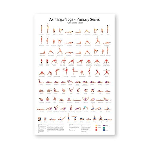 "LYHNB Yoga Poster Canvas Art Prints Yoga Room Wall Art Decor Ashtanga Girls Fitness Gifts Gym Art Painting Decoration 23.6""x35.4""(60x90cm) Frameless"
