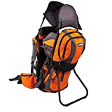 Premium Baby Backpack Carrier with Removable Backpack - 2 in 1 for Hiking with Kids – Carry your Child Ergonomically (Orange/Grey)