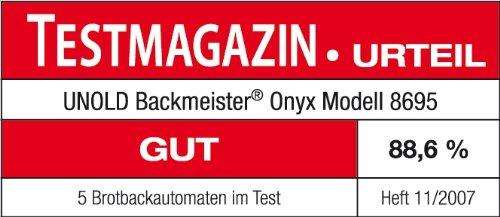 UNOLD Brotbackautomat Backmeister Onyx, 600 W, 1kg Brotgewicht, Keramik-Beschichtung, 8695 - 7